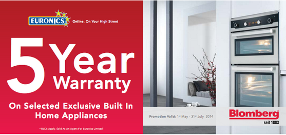 Blomberg 5 year warranty
