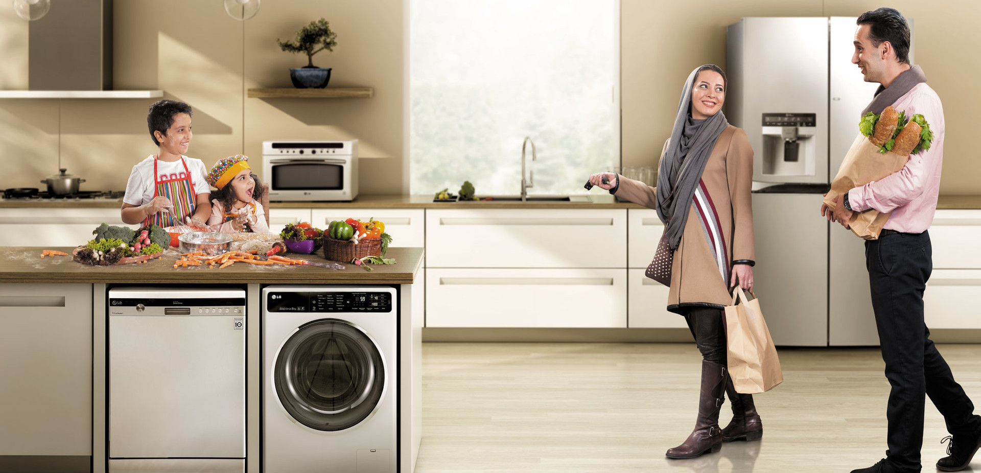 All types of domestic appliances