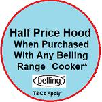 Belling FARMHOUSE90GSIL Range Cooker