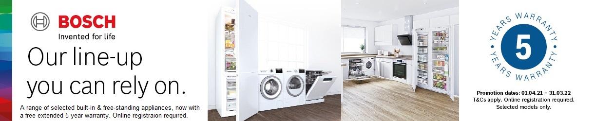 Bosch 5 Year Extended Warranty Promotion