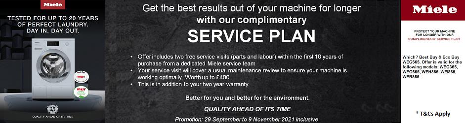 Miele Free 10 year washing machine service plan