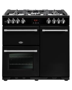 Belling FARMHOUSE90DFTBLK Range Cooker