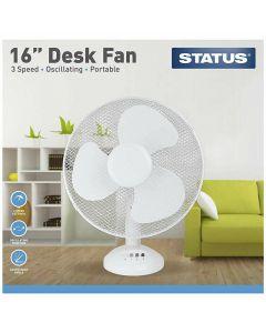 Status International Ltd S16DESKFAN1PKB Cooling Fan