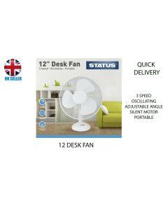 Status International Ltd S12DESKFAN1PKB Cooling Fan