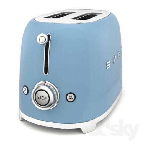 Smeg TSF01BLUK Toaster/Grill