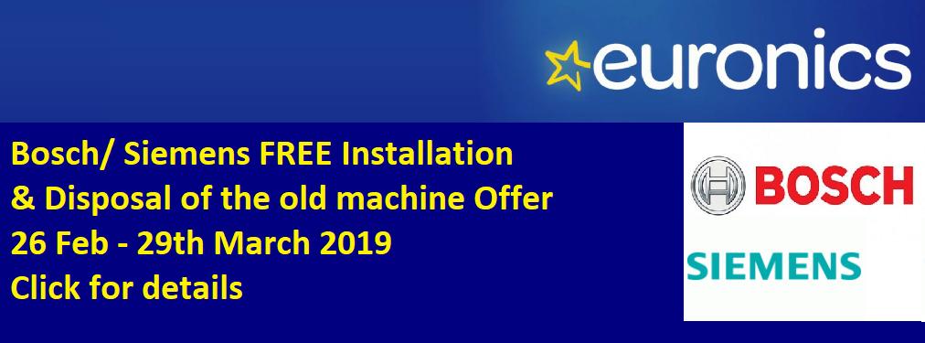 Bosch FREE Install & Removal Offer