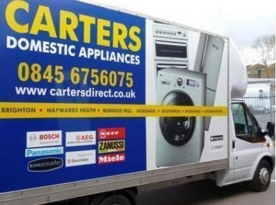 Carters delivery vans. They may be installing goods near you!