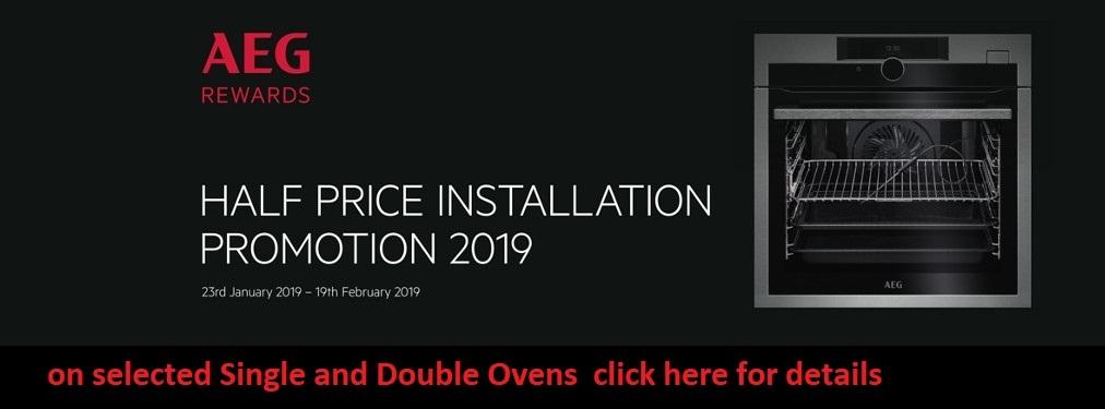 AEG Half price install offer 2019